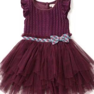 Other - new Matilda Jane 4 Soiree Dress Burgundy Tulle